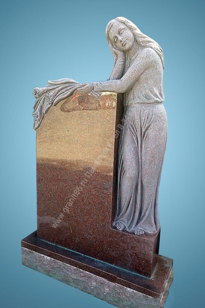 Памятник из белого мрамора ангел традиции в армении